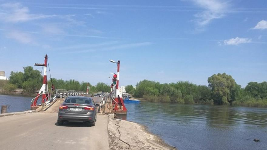 Понтонный мост в Шилово
